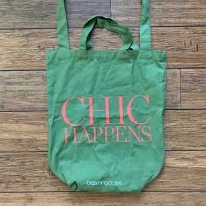 Green Double Handle Chic Happens Shopping Tote